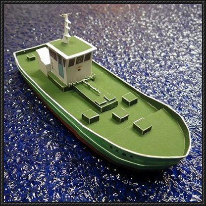 Bunker Ship Paper Model Free Template Download - http://www ...