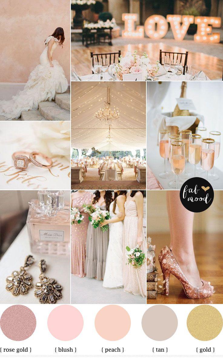 Blush Gold Weddings On Pinterest