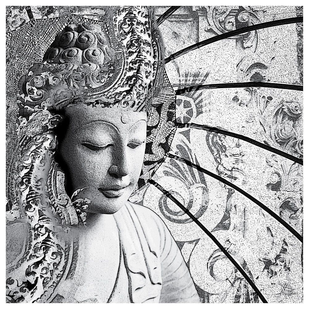 Buddha Wall Art Decal - Bliss of Being by Christopher Beikmann from My Wonderful Walls http://www.mywonderfulwalls.com/collections/christopher-beikmann