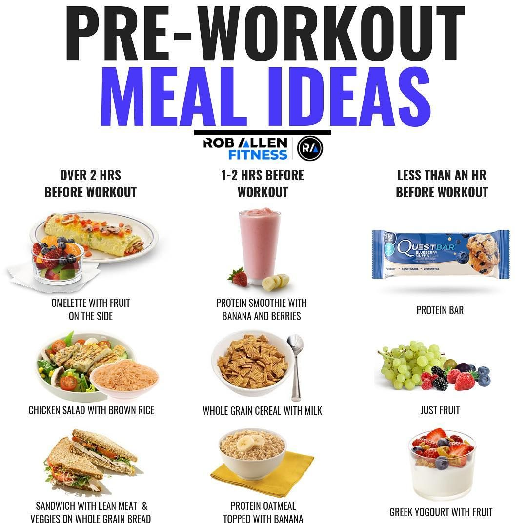 PreWorkout Meal What To Eat Before A Workout Post