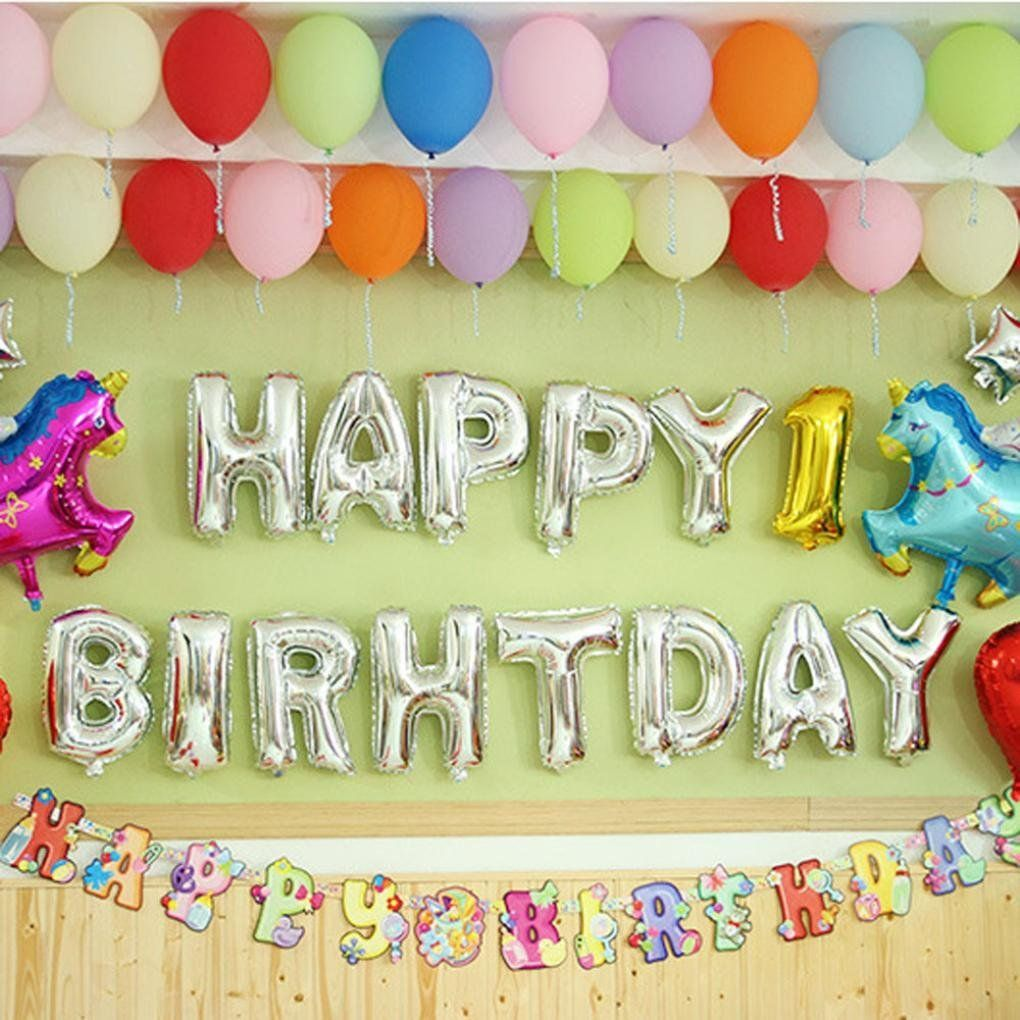 Birthday toys images  Happy Birthday Letters Foil Balloons Child Kids Birthday Party
