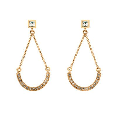Cachet London Rose Hope Drop Pierced Earrings