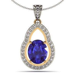 155ct oval tanzanite pendant with 21ctw diamonds in 14k white gold 155ct oval tanzanite pendant with 21ctw diamonds in 14k white gold aloadofball Image collections