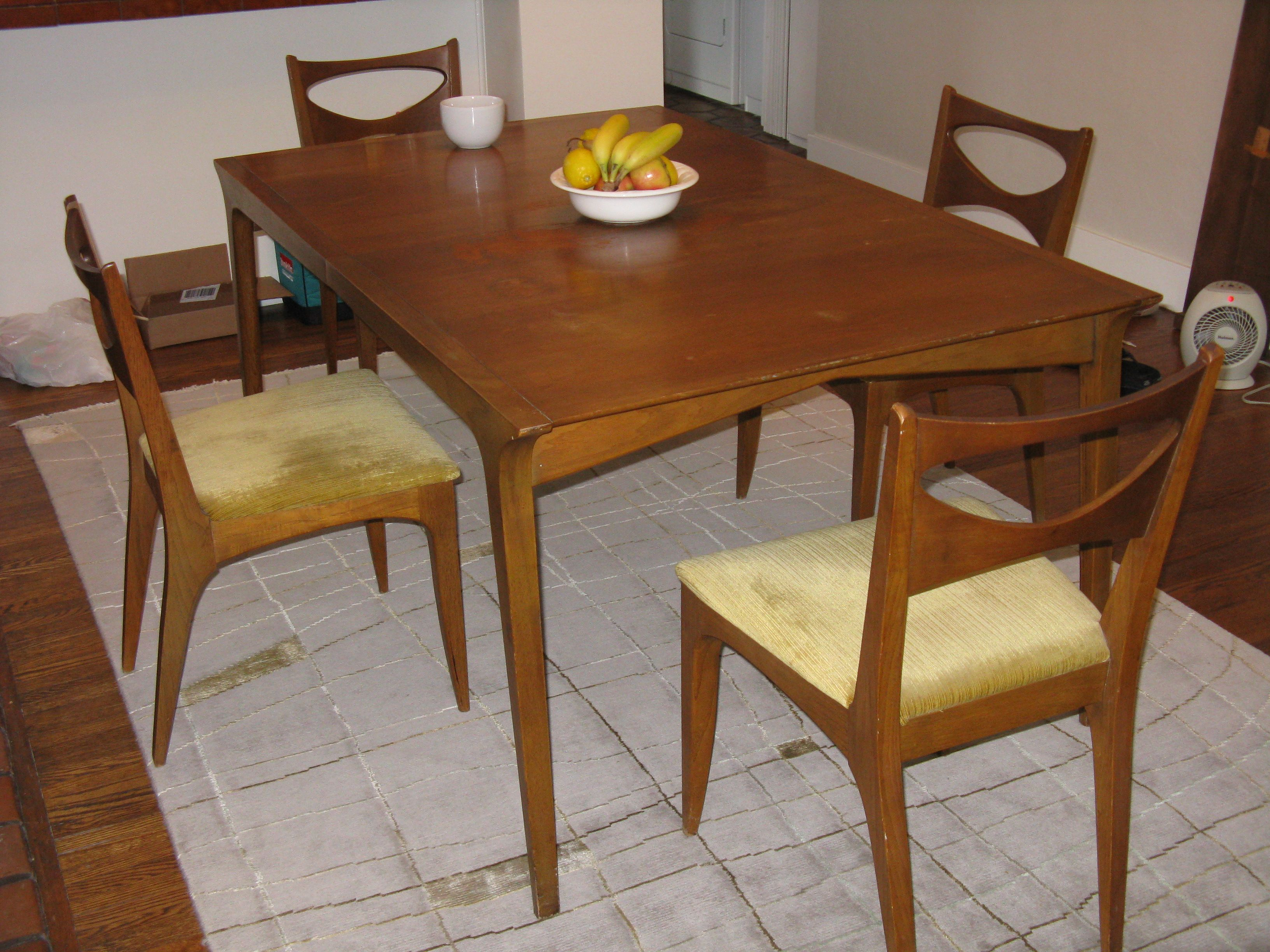Drexel Profile Dining Set Before Refinish