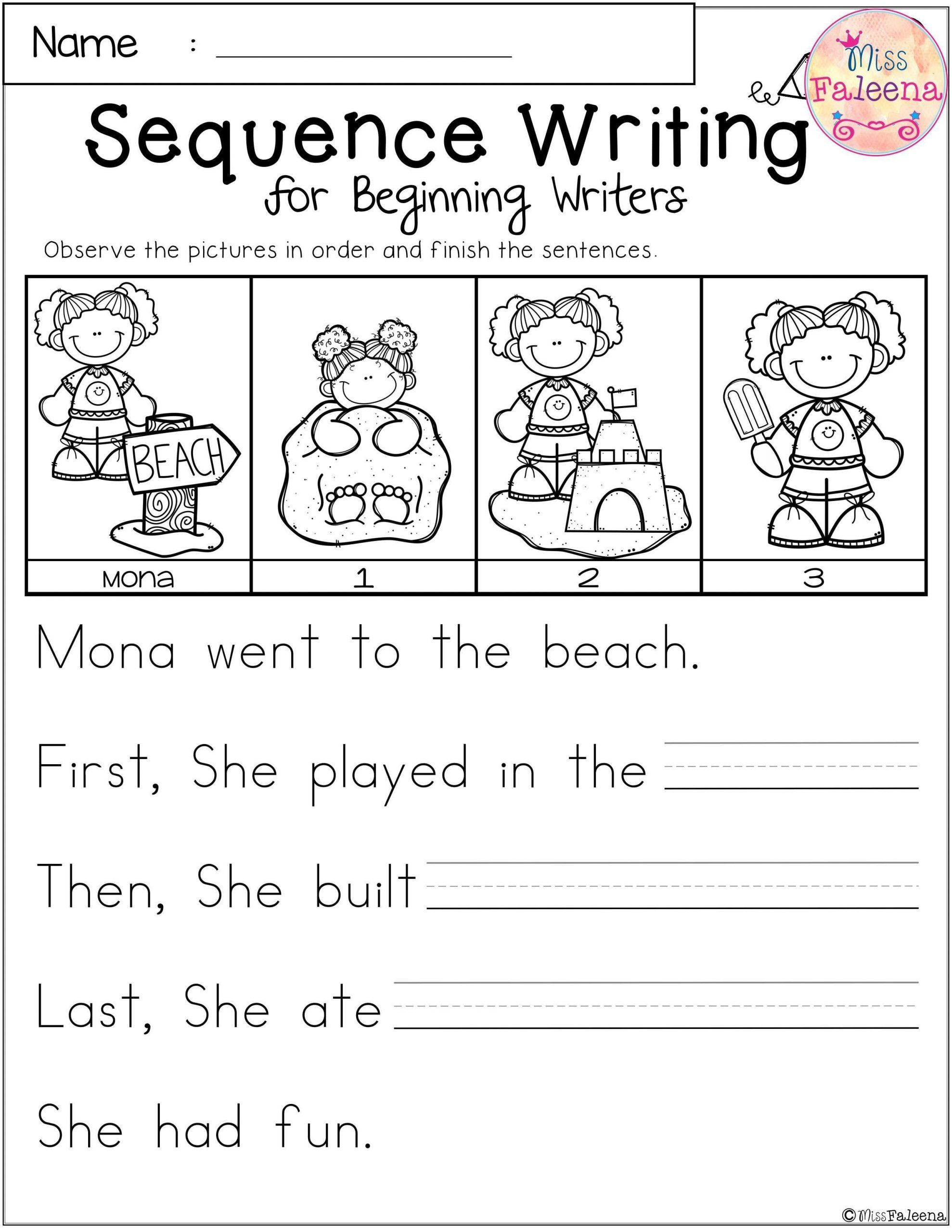 Sequencing Worksheets For Kindergarten Free Sequence