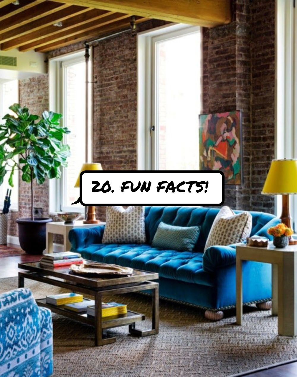 20 Fun Facts Yellow Living Room Furniture Colorful Eclectic