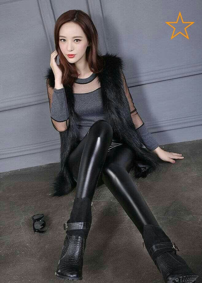 9726a44ebfc4a1 Black Leggings, Shiny Leggings, Leggings Are Not Pants, Wet Look, Beautiful  Asian