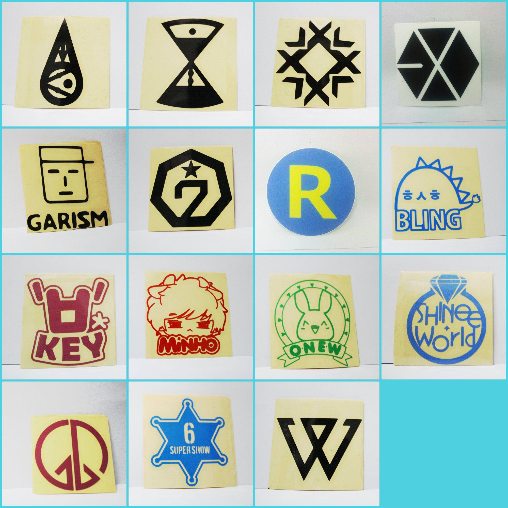 Stiker kpop harga rp 5 000 ukuran 6 x 6 cm jenis cutting