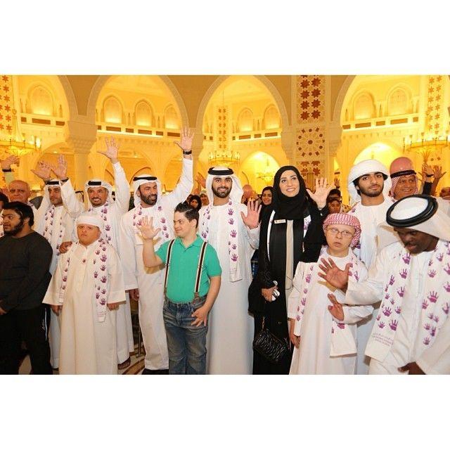 3/14 His Highness Sheikh Mansoor Bin Mohammed Almaktoum celebrating World Down Syndrome Day at #TheDubaiMall
