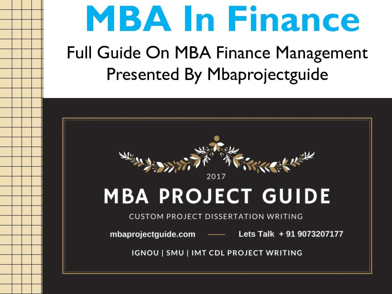 Mba In Finance Management Visual Ly Dissertation Project On
