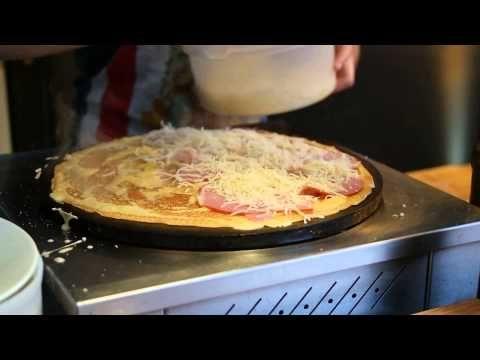 Savory Crepe in Paris   Egg Ham Cheese Crepe - YouTube