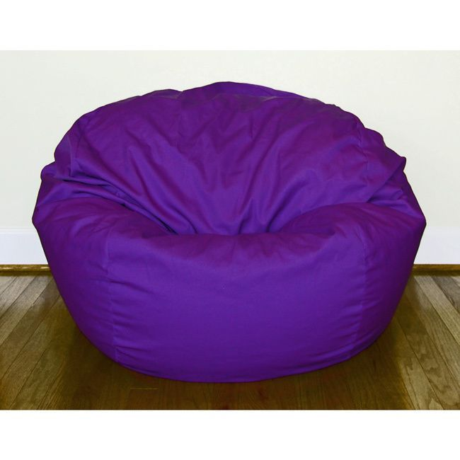 Ahh Products Purple Cotton/ Poly Twill 36 Inch Washable Bean Bag Chair  (Purple
