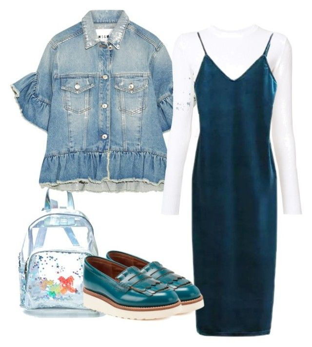 """""""sea"""" by lenusikx on Polyvore featuring Current Mood, MSGM, Proenza Schouler and Grenson"""