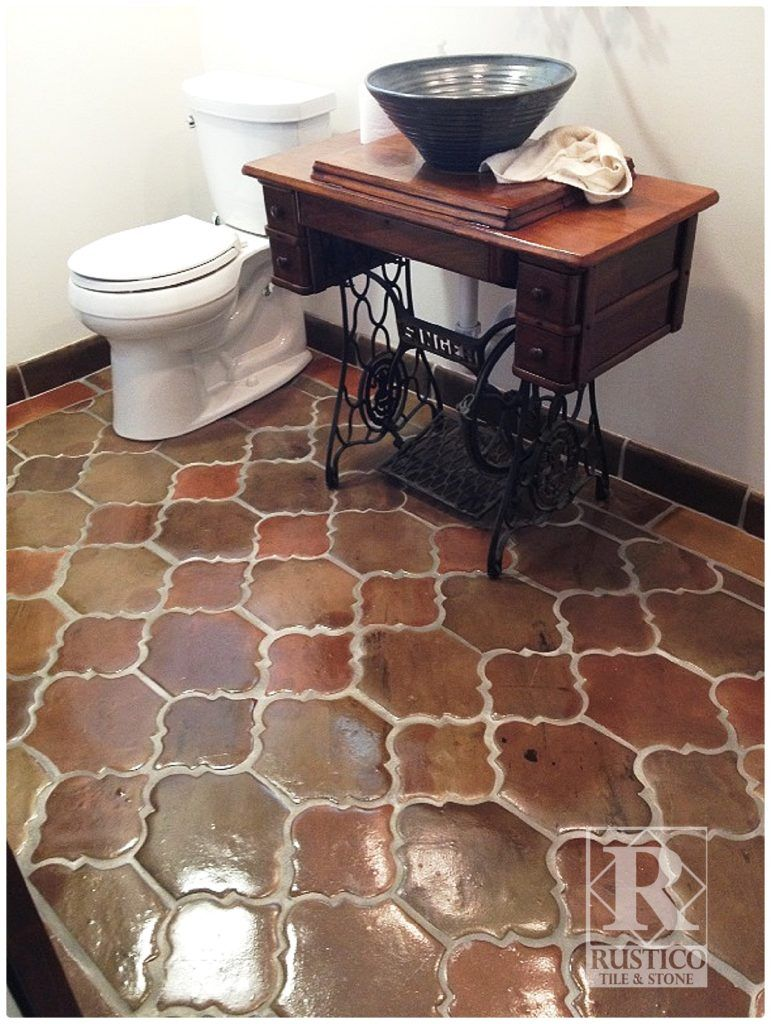 This is manganese saltillo tile in the riviera pattern this quarry tiles dailygadgetfo Choice Image