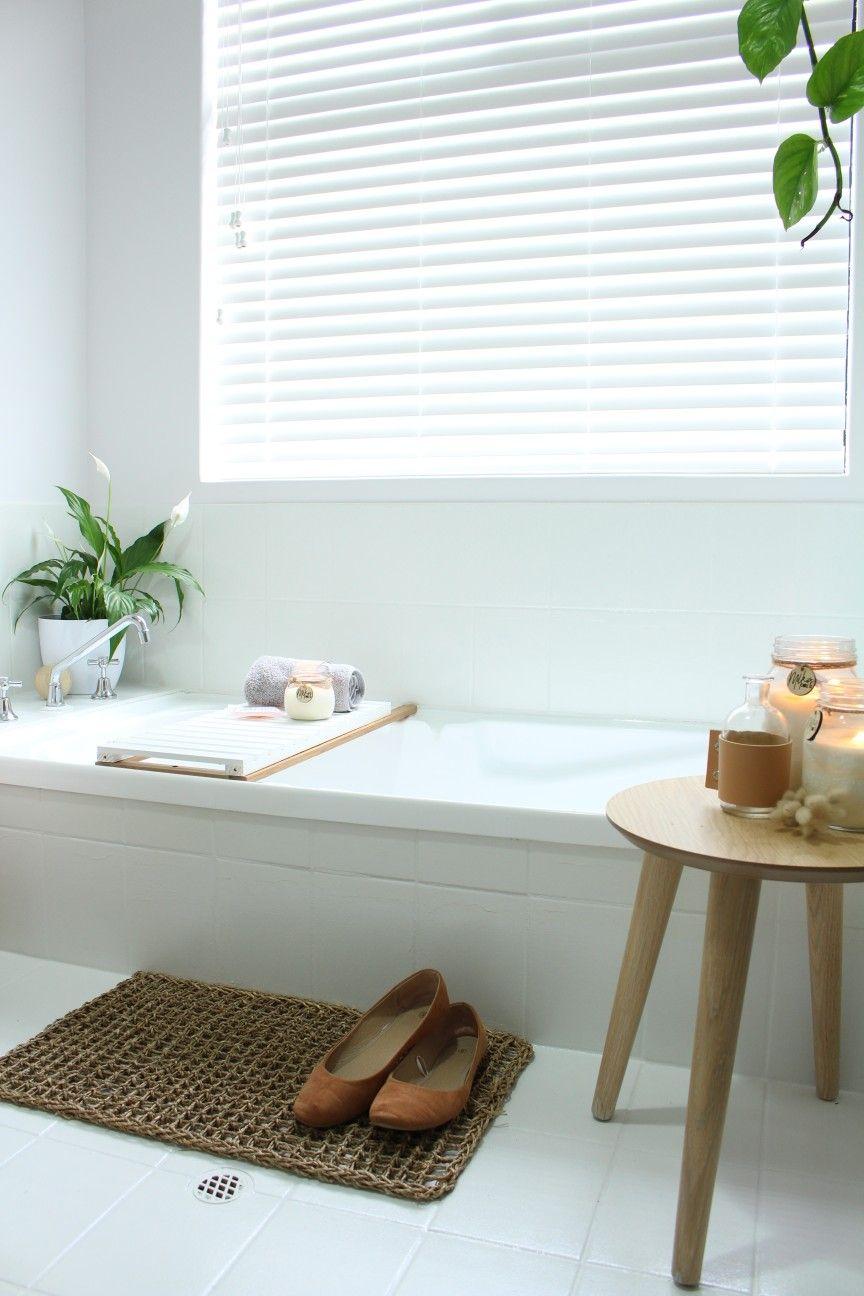 AFTER. Bathroom renovation, tile paint, Rustoleum, DIY ...