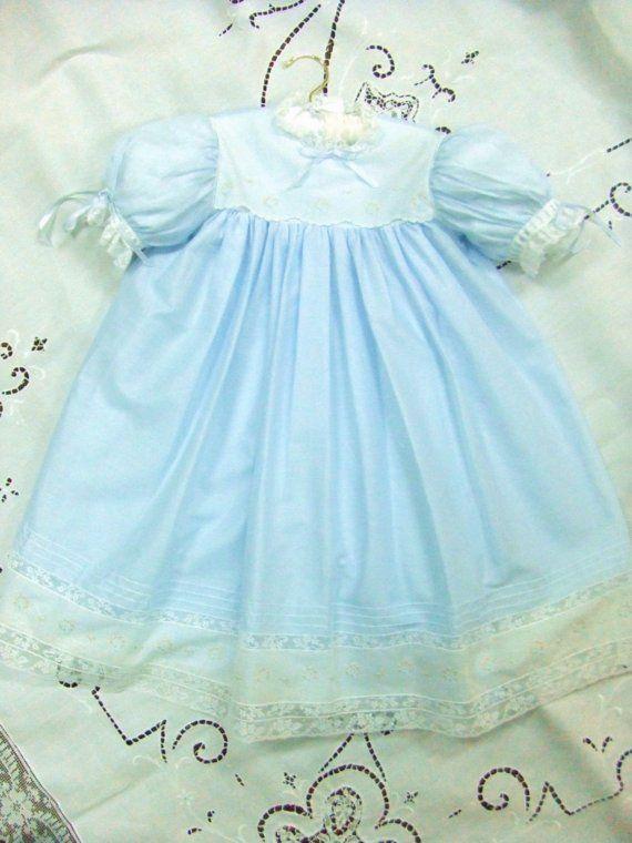 3t Heirloom Portrait Dress Blue Batiste Flower Girl