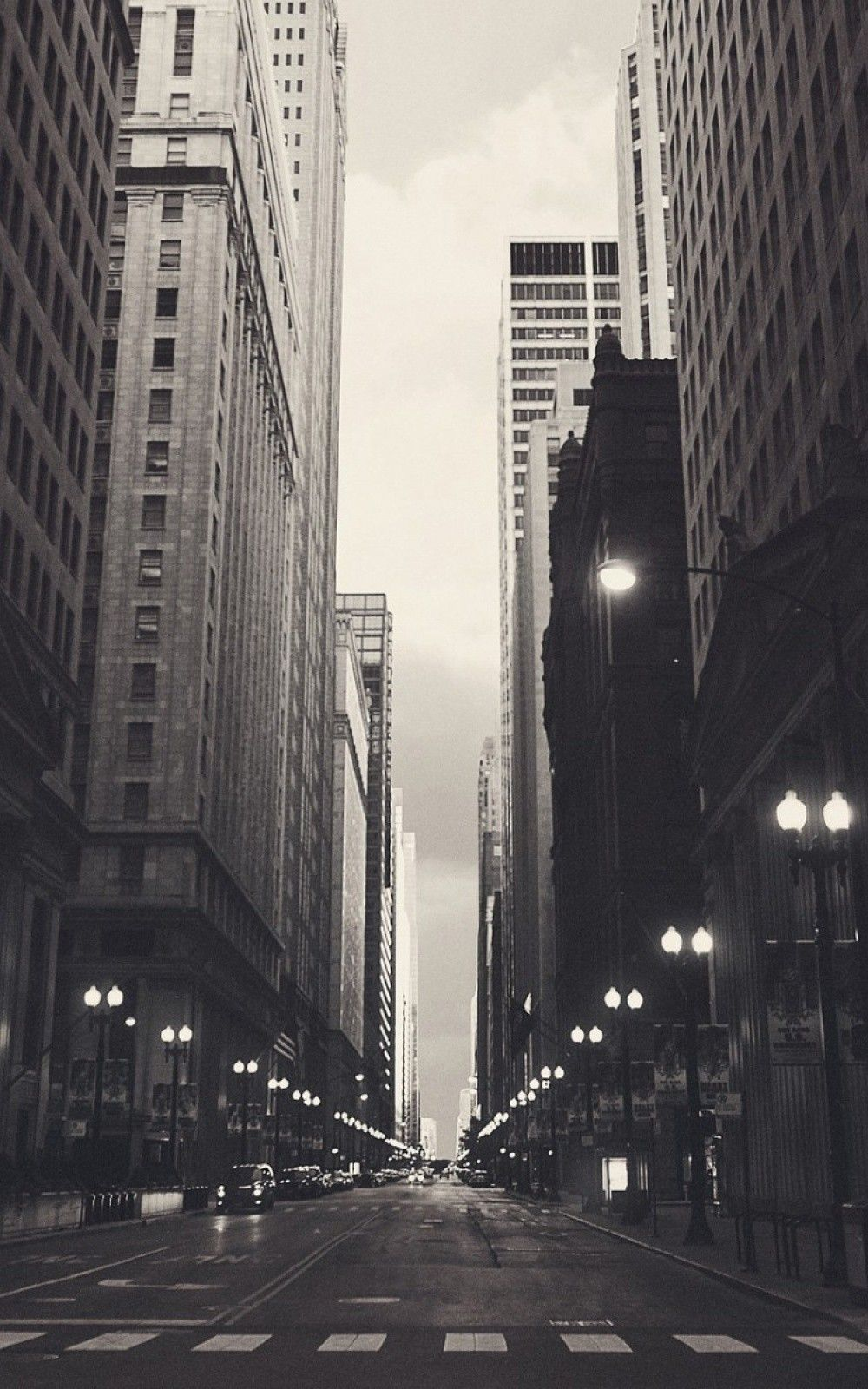 Chicago USA Black and White Streetview Android and iPhone