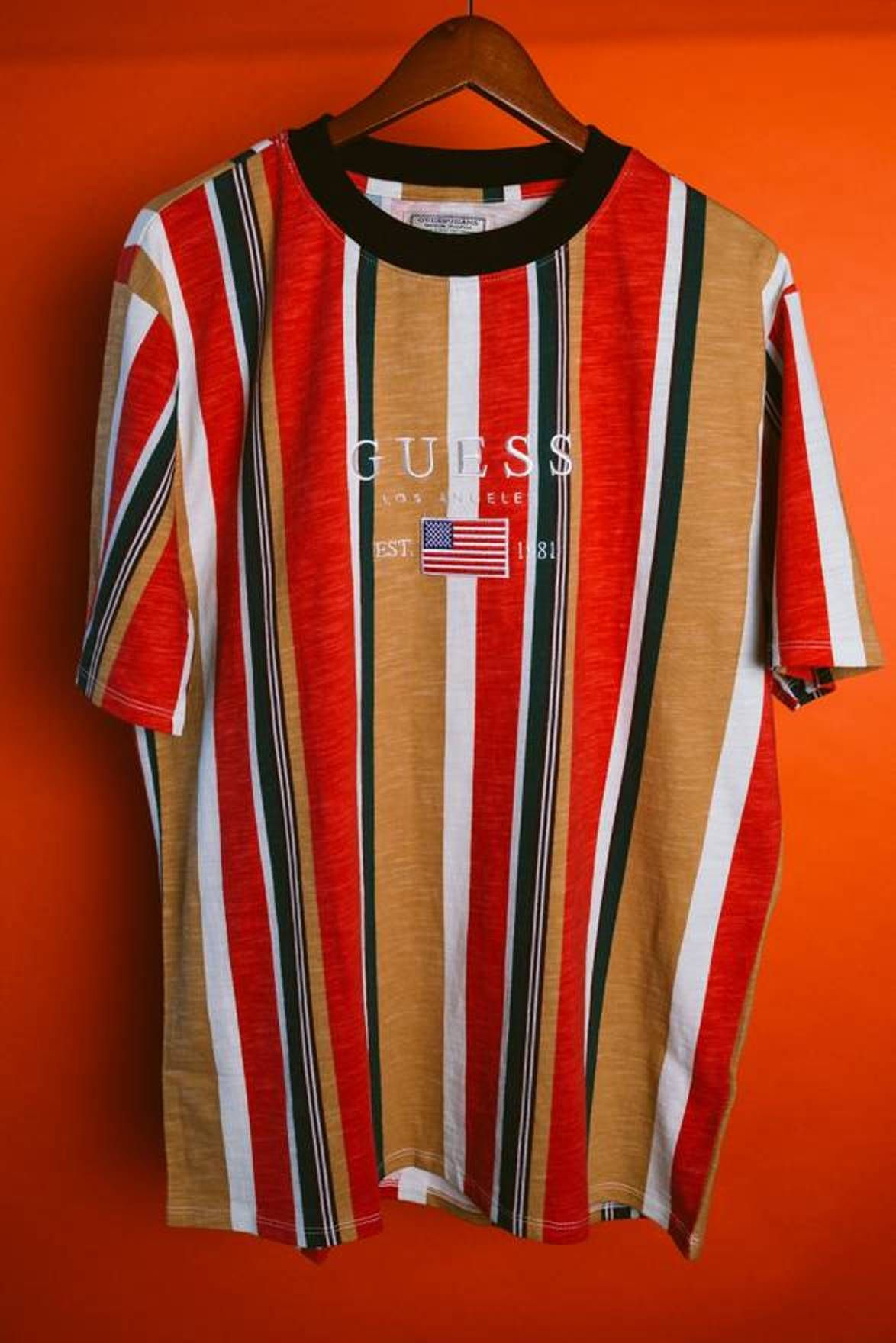44d8bc72ee Guess Guess Jeans Los Angeles 1981 USA Guess Striped Shirt Capsule Vertical  Vtg Asap Rocky Size US M / EU 48-50 / 2