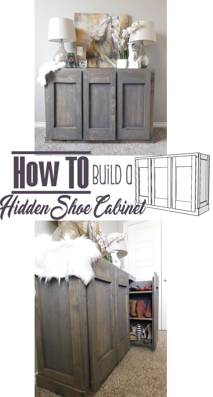 How To build a Hidden Storage Cabinet - DIY Woodworking Project Handmade Haven  sc 1 st  Pinterest & Hidden Shoe Cabinet | Diy woodworking Storage cabinets and Woodworking