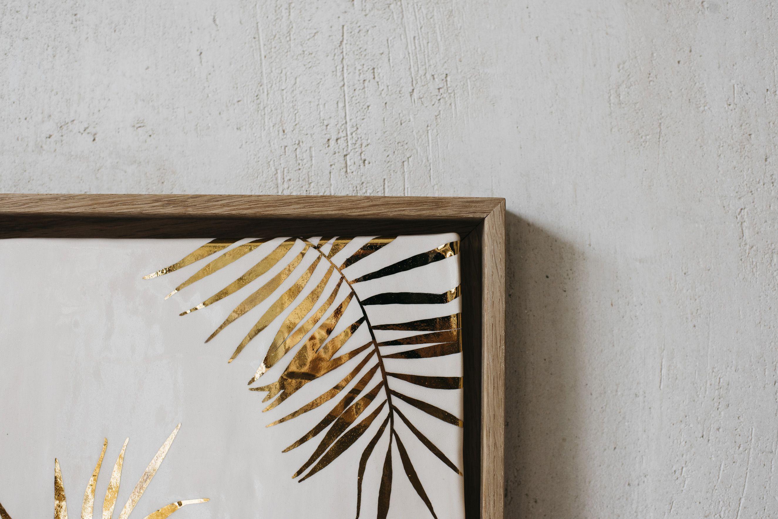 Así de bonito está enmarcado nuestro cuadro de cerámica con palmera ...