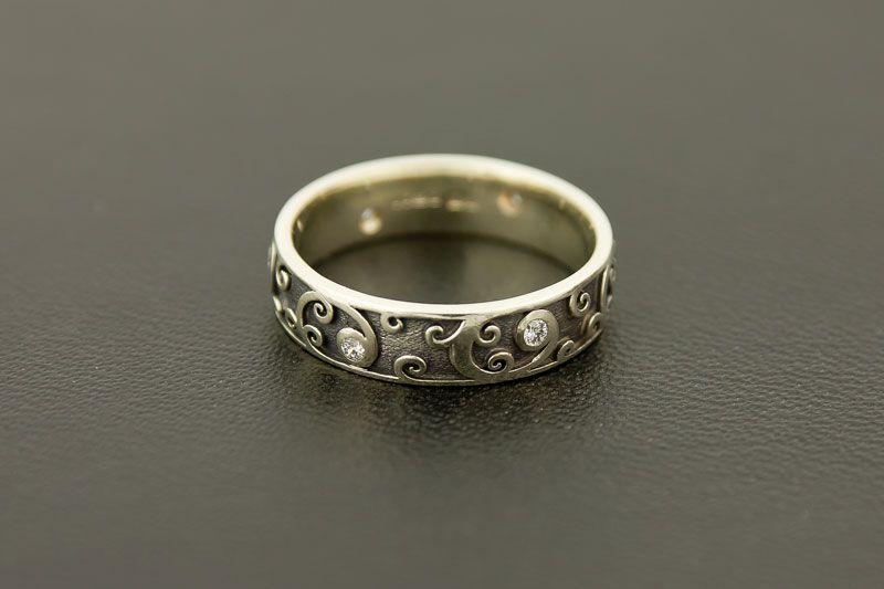 Bespoke White Gold and Diamonds Wedding Ring Diamond wedding rings