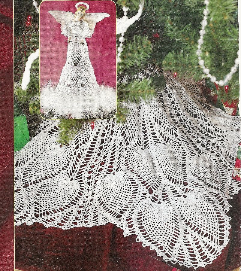 Pineapple Christmas Tree Skirt And Angel Topper Thread