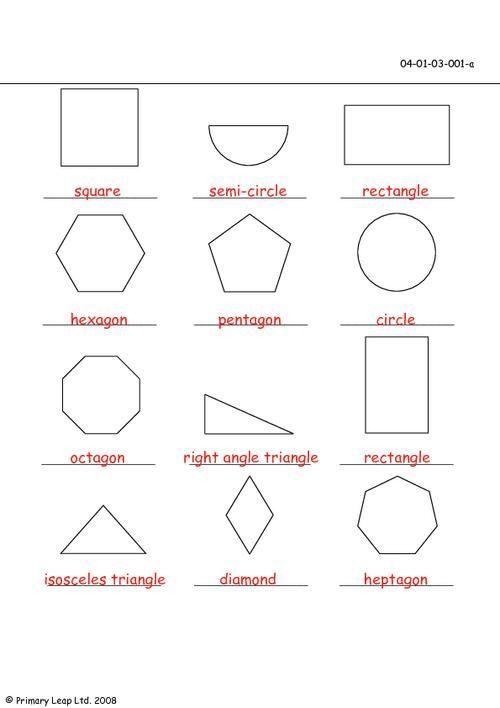 printable 2d shape worksheet - Google Search | Teaching Math ...