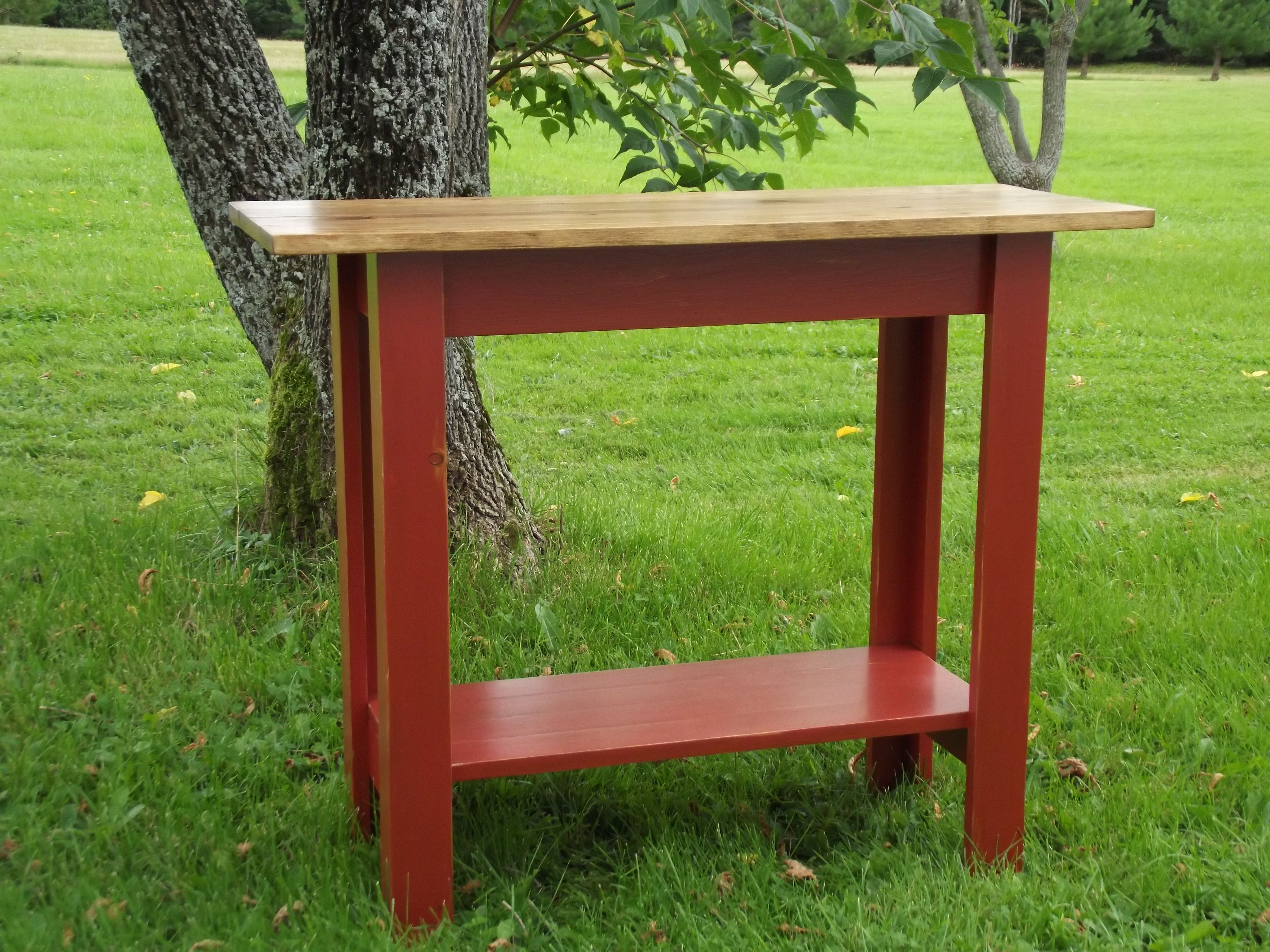Updated Simplest Console Diy Console Table Diy Sofa Table Diy