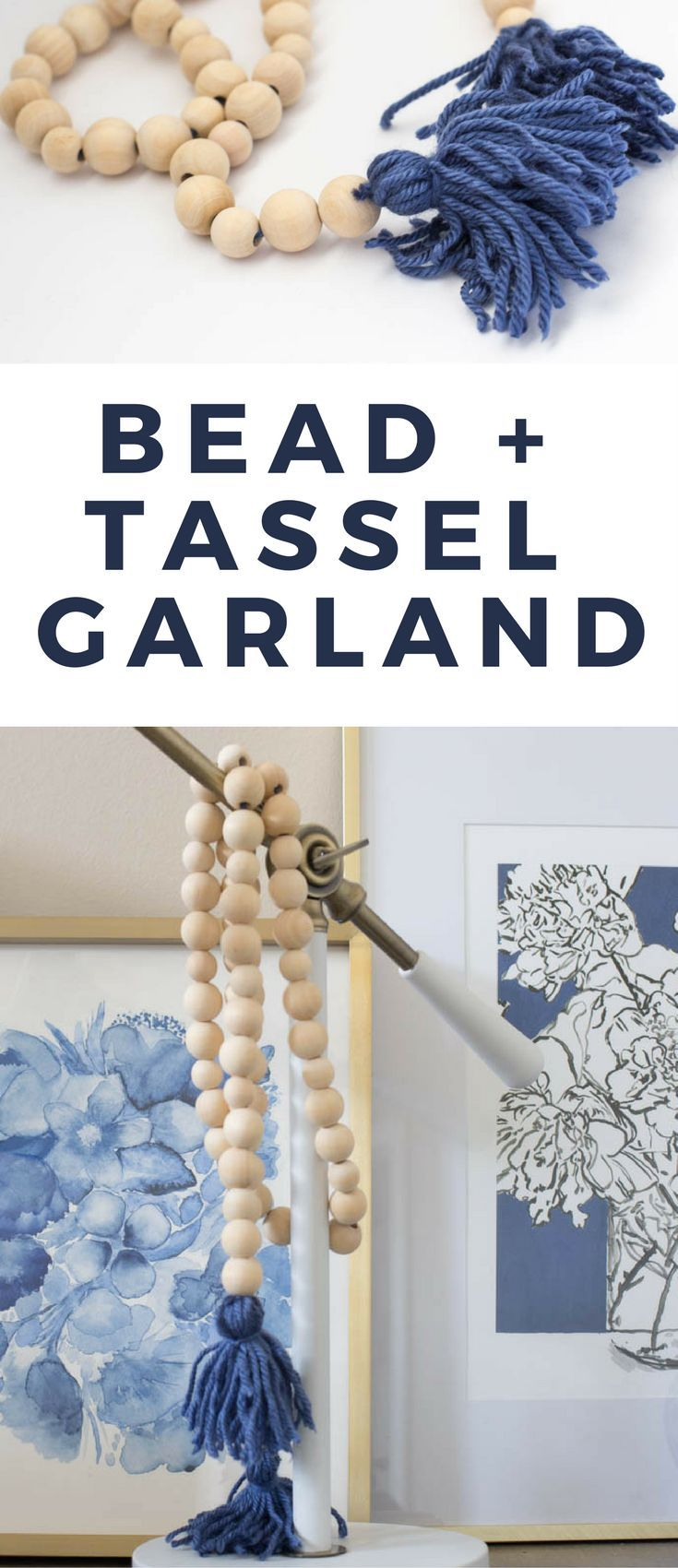 How to make a DIY Wood Bead and Tassel Garland that looks expensive but really isn't!