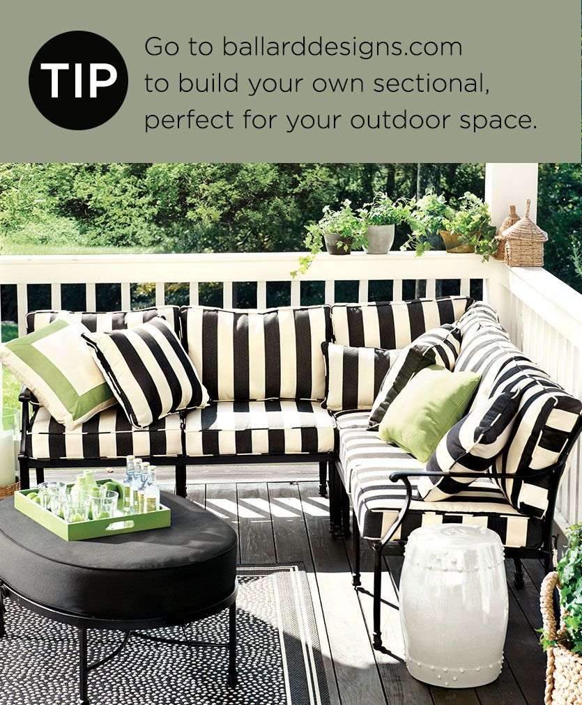 Decorating Tips from our Spring 2014 Catalog | Outdoor ... on Black And White Backyard Decor  id=18137