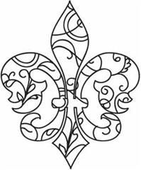 fleur de lis color pattern and designs - Google Search | French ...