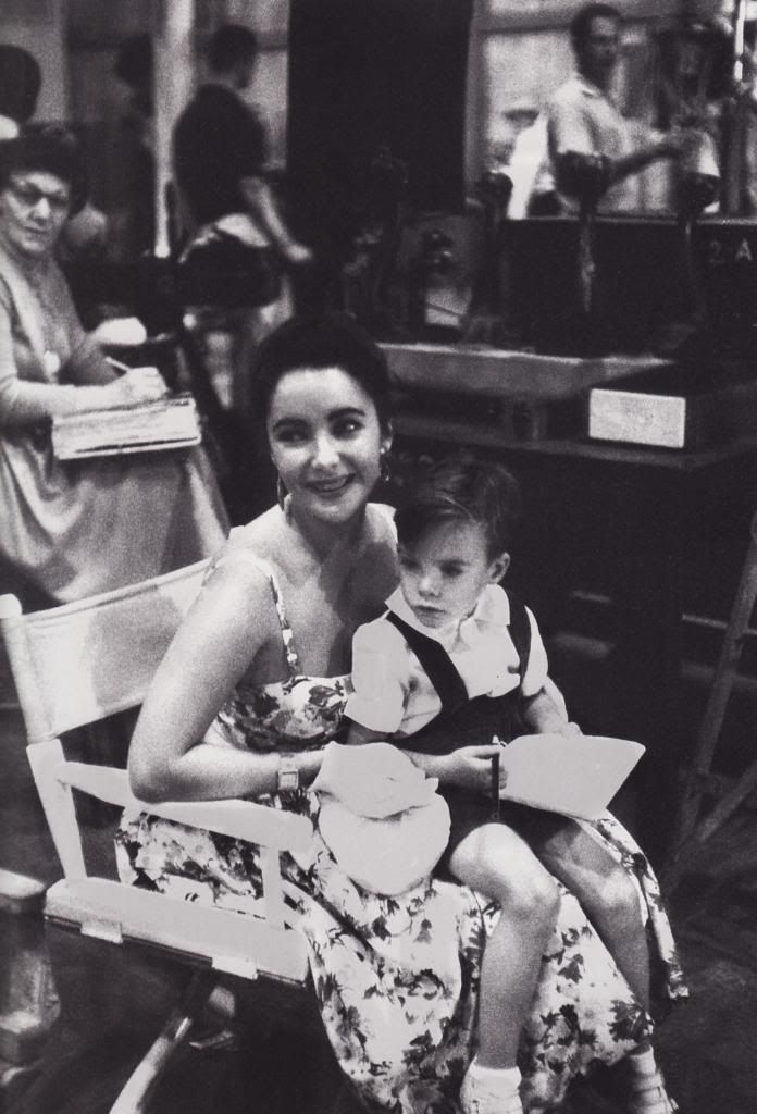 Elizabeth taylor and her son