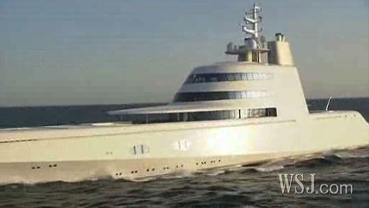 """The """"A"""", designed by Philippe Starck, arrived in San Francisco in September after making stops in Alaska and Seattle"""