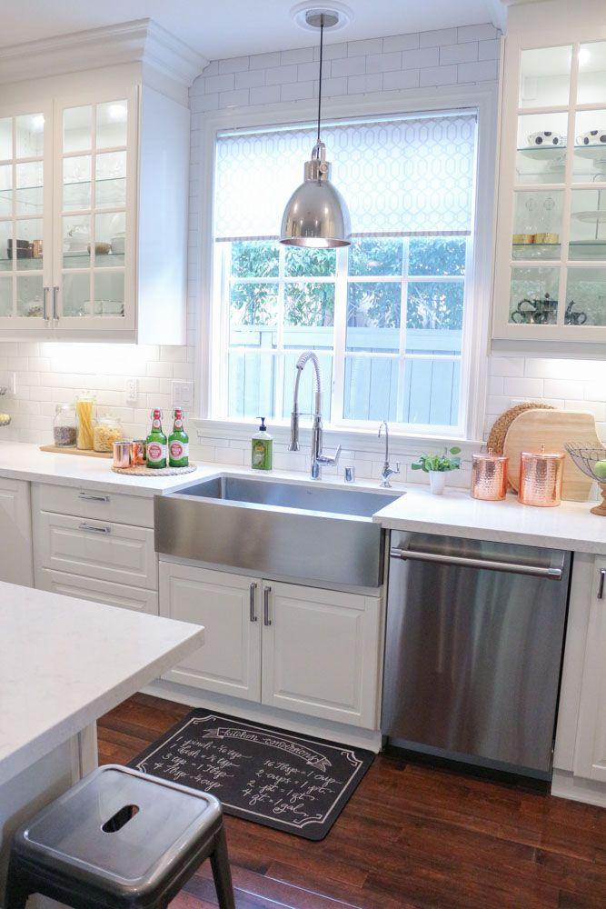 Copper Kitchen Accents White Modern Farmhouse Kitchen 1111lightlane 1 Of 1 Kitchen Remodel Home Decor Kitchen Kitchen Decor Items
