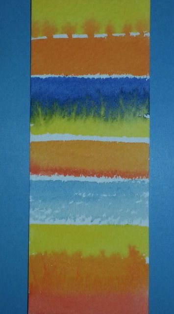 """Strata 4"" watercolour painted gift card by Rosie Kerr"