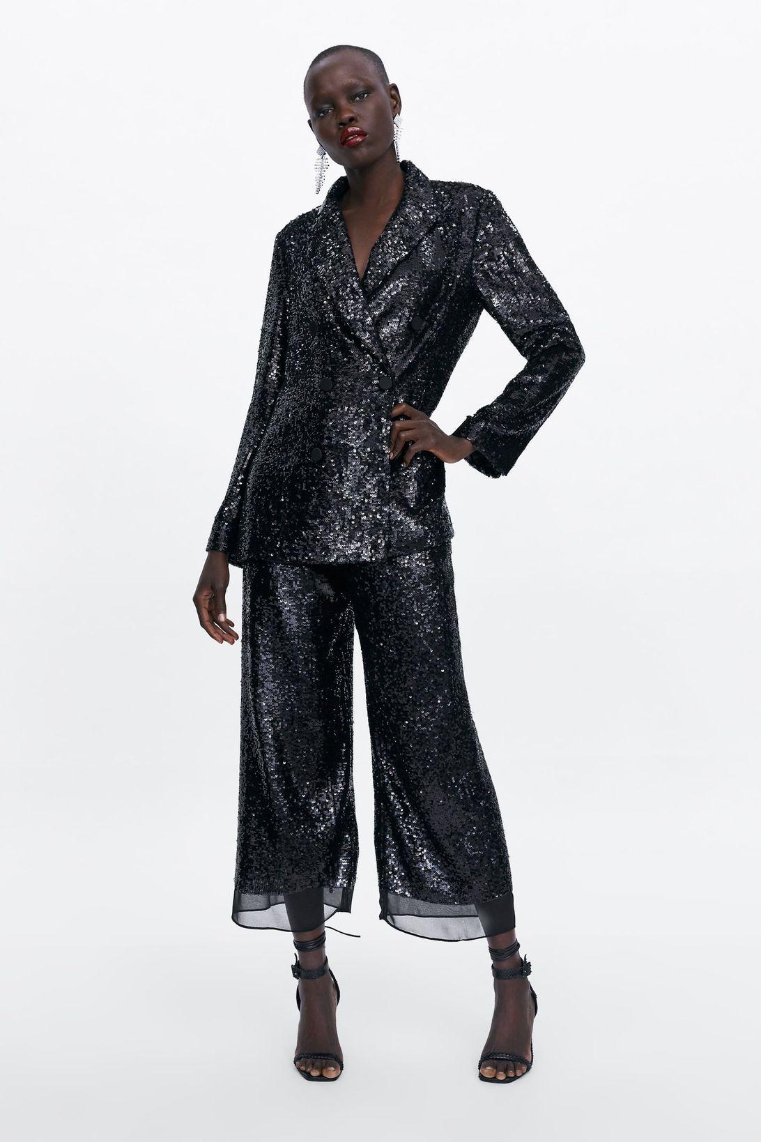 giacca vestito zara nero primavera 2019