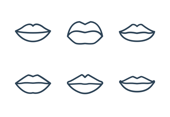 Lips Icons By Graphic Mall Business Icons Design Lips Icon