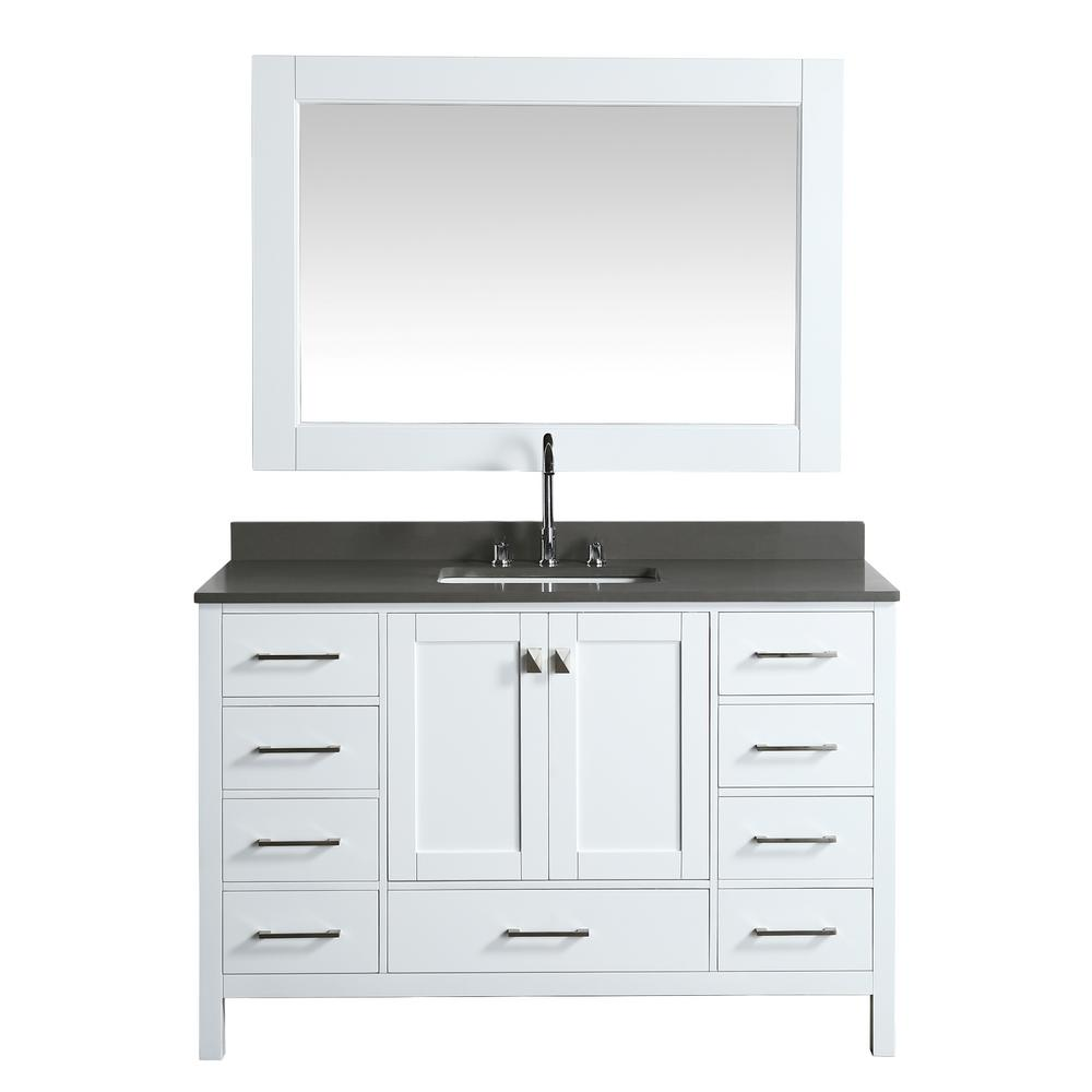 Design Element London 54 In W X 22 In D Vanity In White With