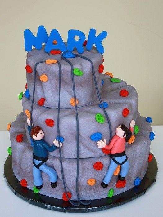 Rock Climbing Cake With Images Rock Climbing Cake Rock
