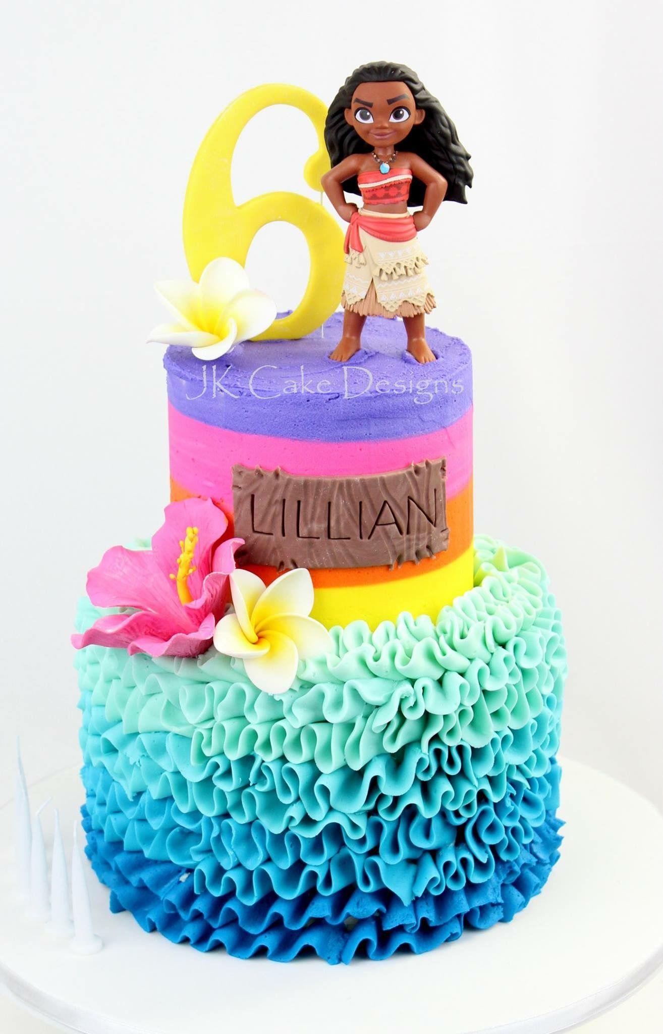 Moana Themed Birthday Cake