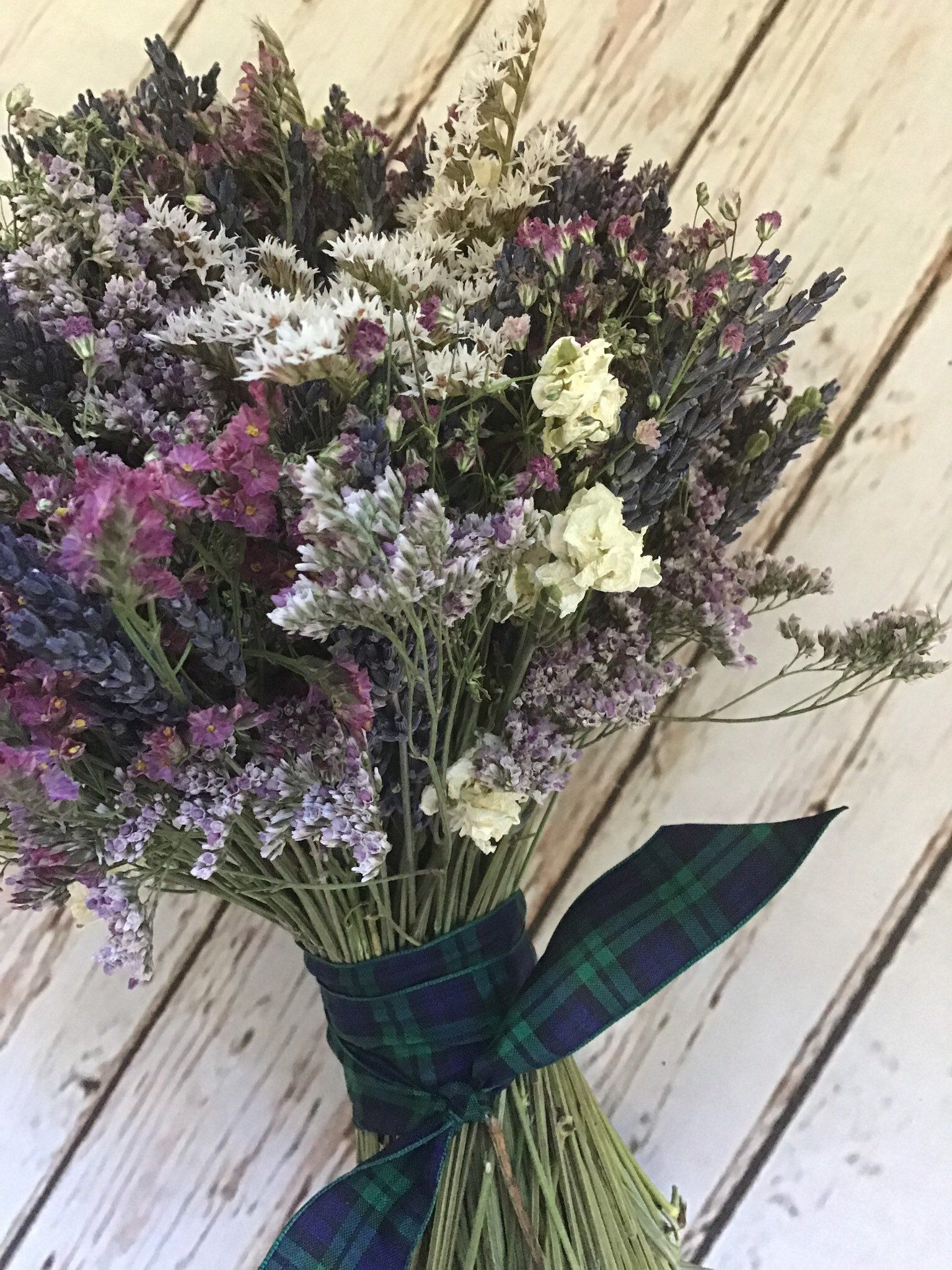 Dried Flower Bouquet Including Lavender Gypsophilia Wedding Etsy Dried Flower Bouquet Flowers Bouquet Dried Flowers