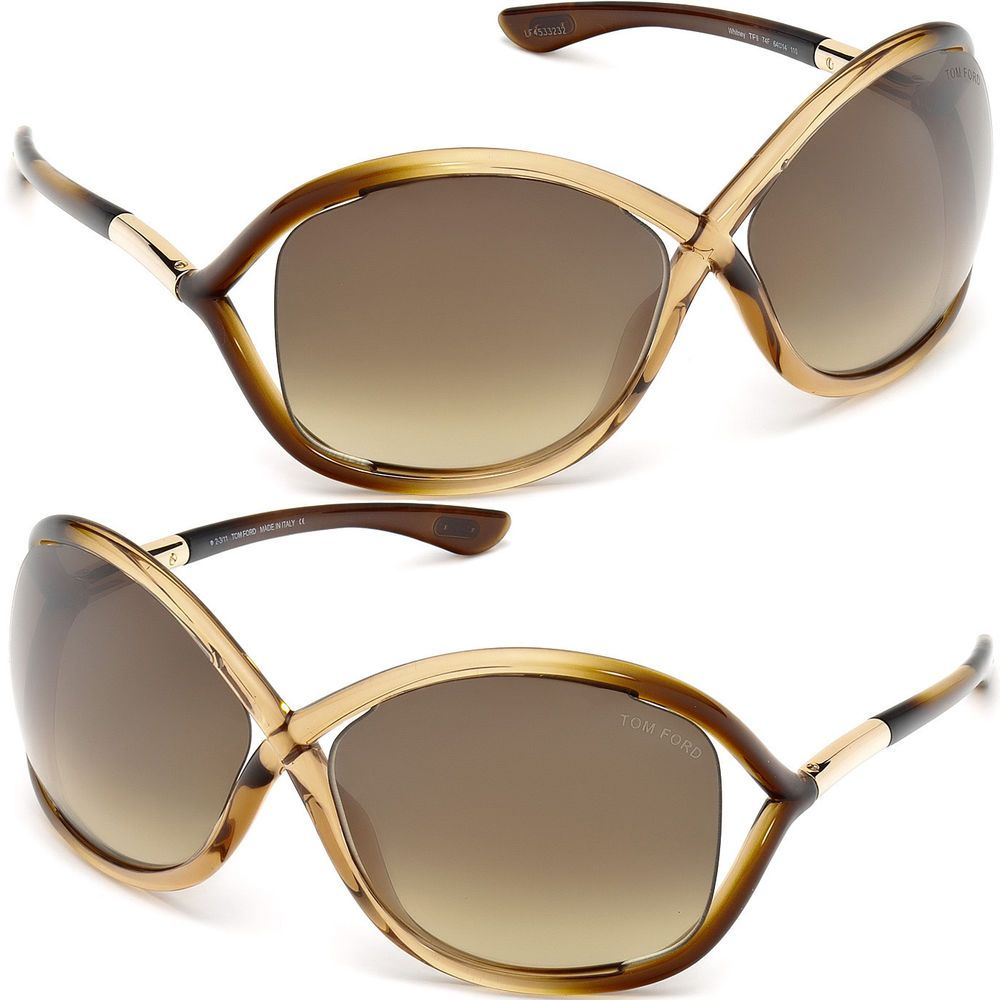 8440a3e2ab NEW Tom Ford TF9 74F Whitney Sunglasses TF 9 Brown Gradient FT0009  Oval