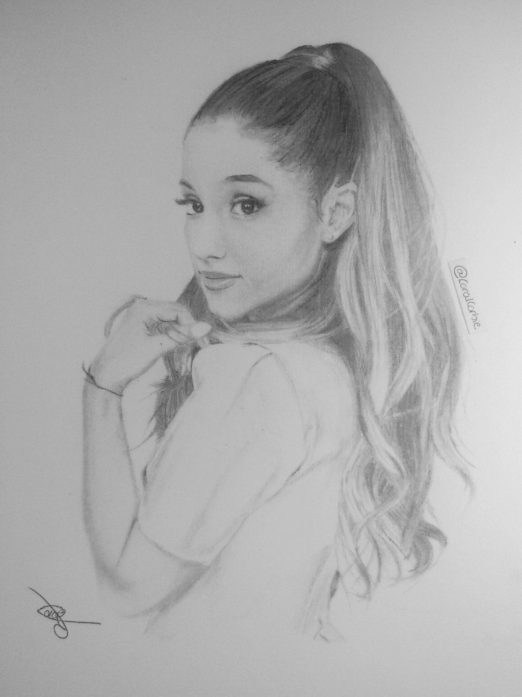 Ariana Easy Drawing Pencil Sketch