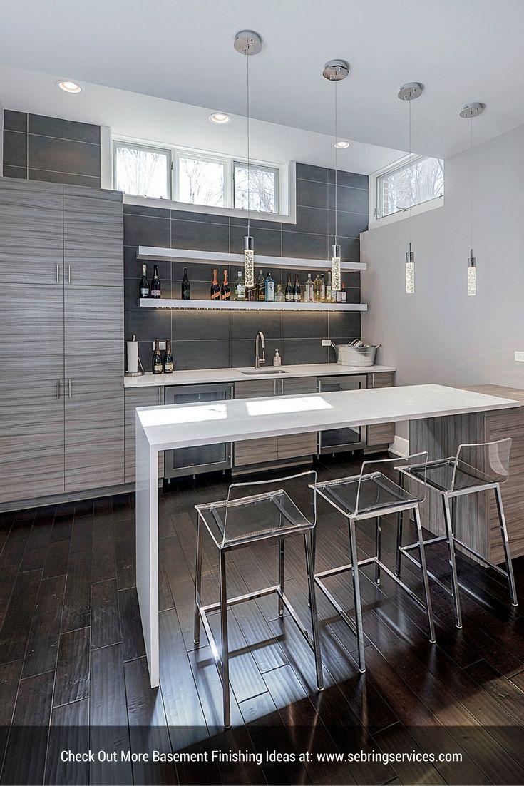 Basement Remodeling Naperville Il sidd & nisha's basement remodel | basement bars, shelves and