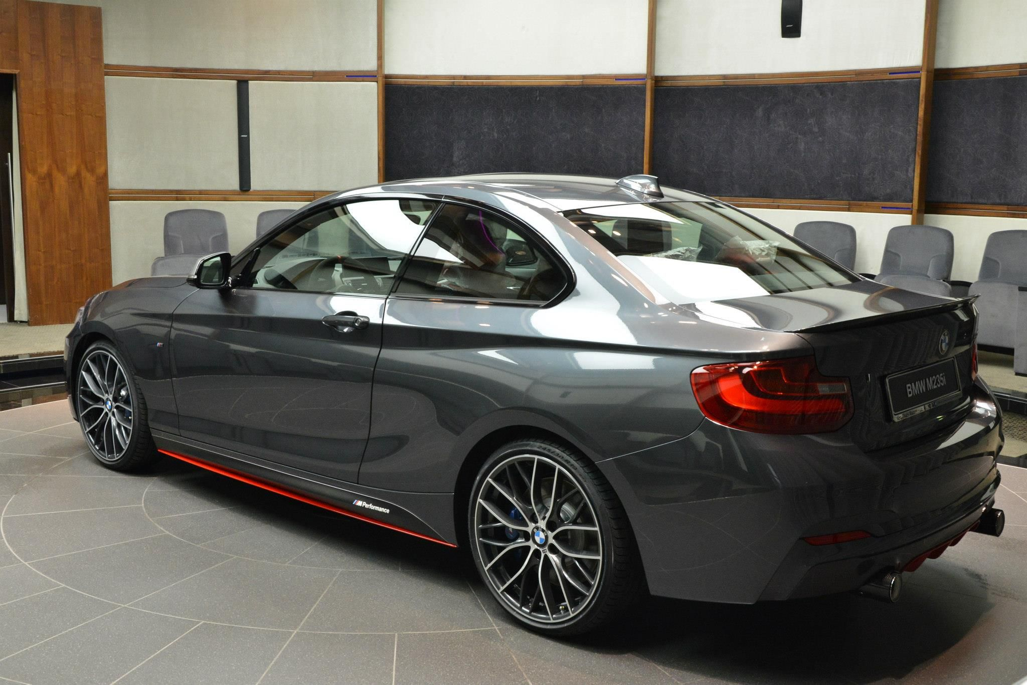 lady with red bmw m235i m performance drivessential. Black Bedroom Furniture Sets. Home Design Ideas