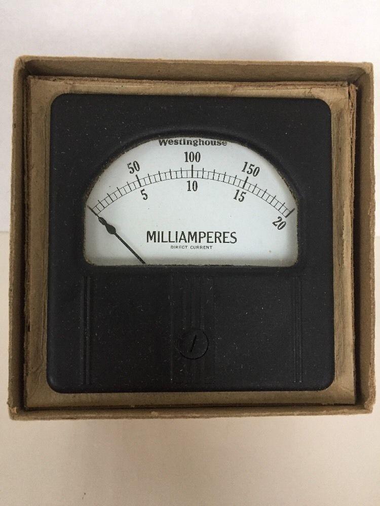 Westinghouse Milliamperes Vintage Amp Meter RX-35 in Box Old ...