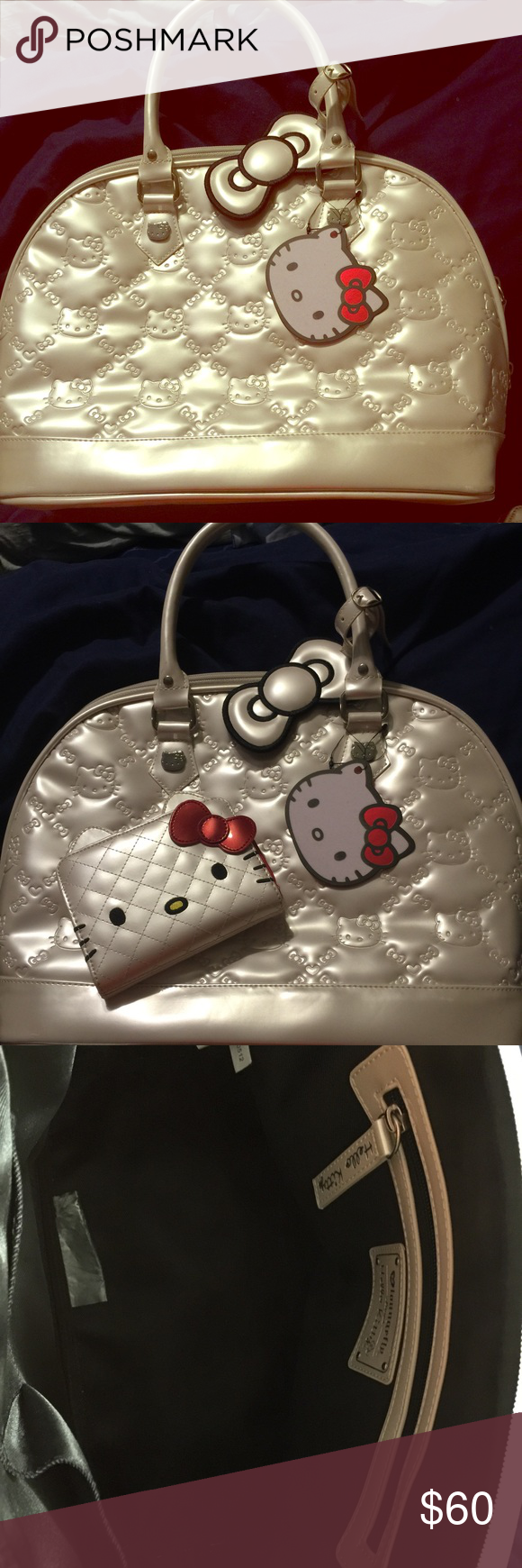 Hello kitty Super cute Hello Kitty purse I am adding a wallet also that was never used. In excellent condition has been sitting on top of my closet! Hello Kitty Bags Totes
