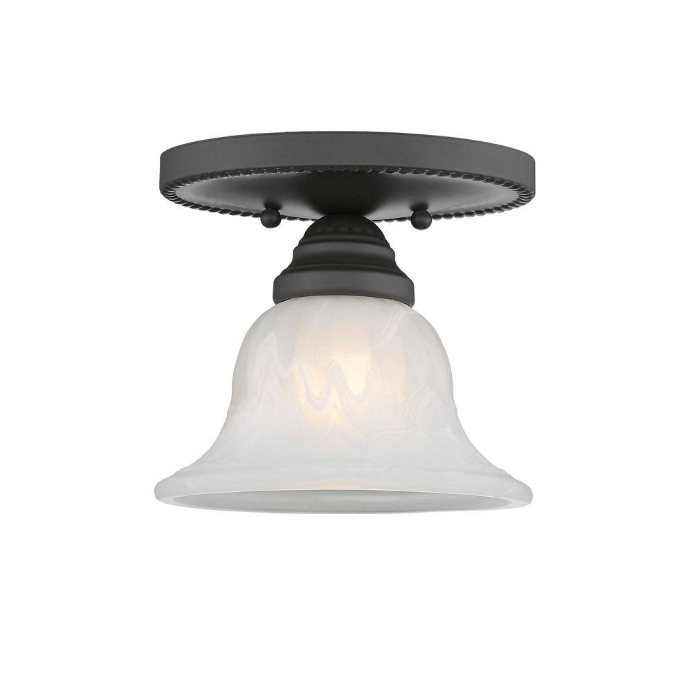 Photo of Livex Lighting Edgemont 1-light Bronze Ceiling Mount Fixture (Bronze)