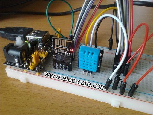 ESP8266 Temperature / Humidity Webserver with a DHT11 sensor