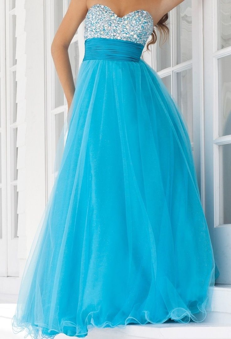 Neon Blue Prom Dress